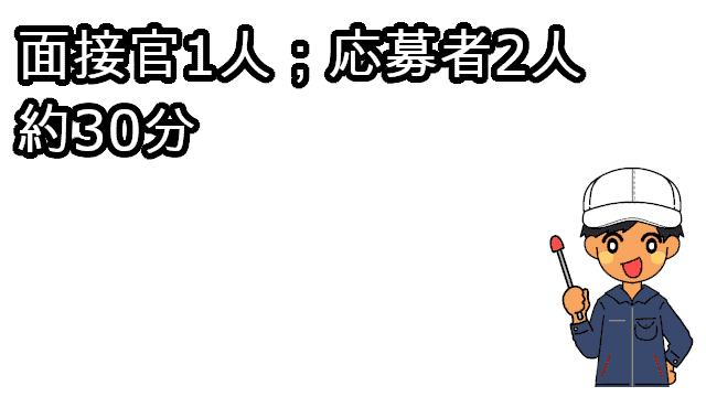 豊田自動織機の面接の構成