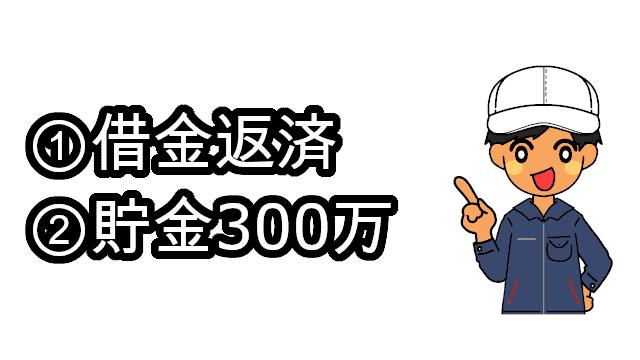 借金貯金300万