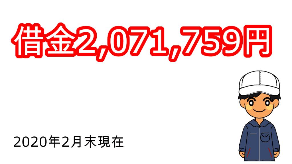 2020年2月末借金