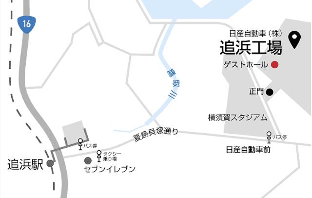 追浜工場地図