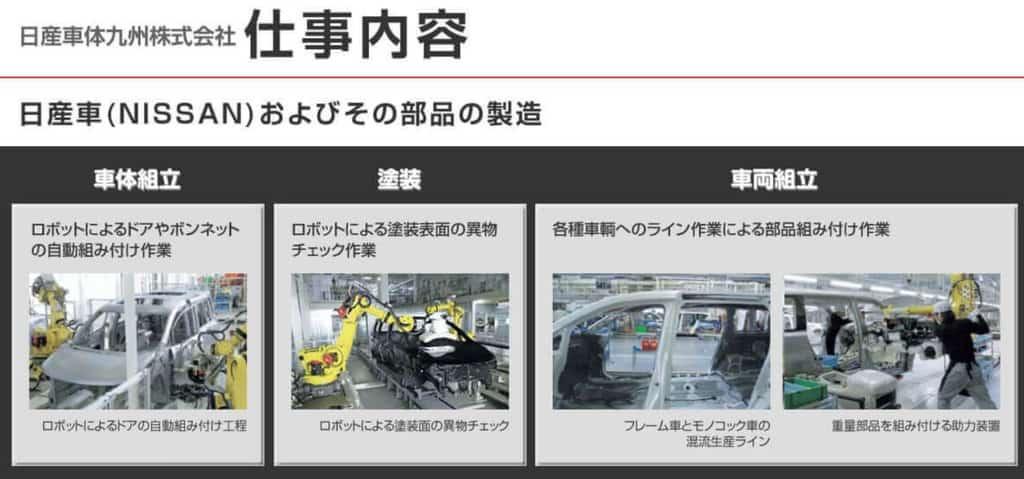 日産車体九州仕事内容