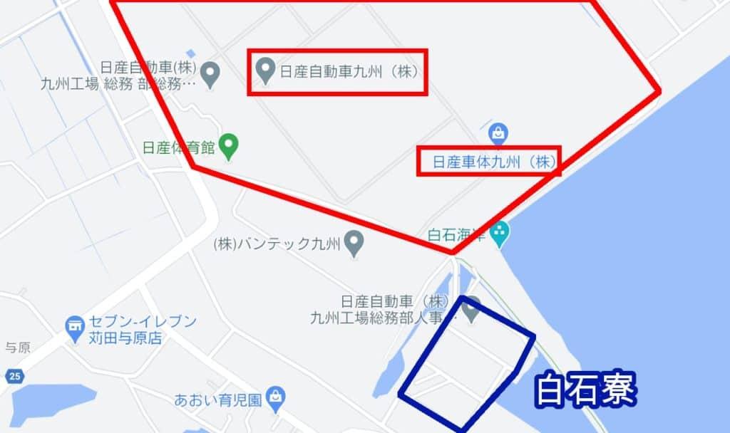 白石寮地図