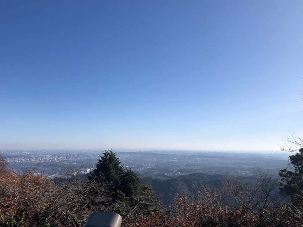 高尾山眺め