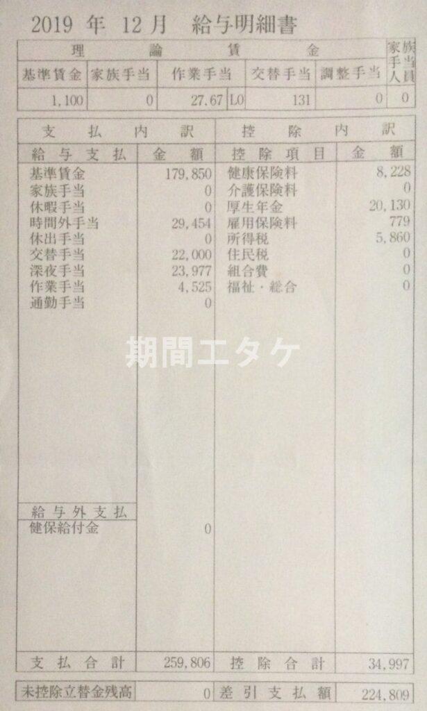 日産九州期間工給料201912
