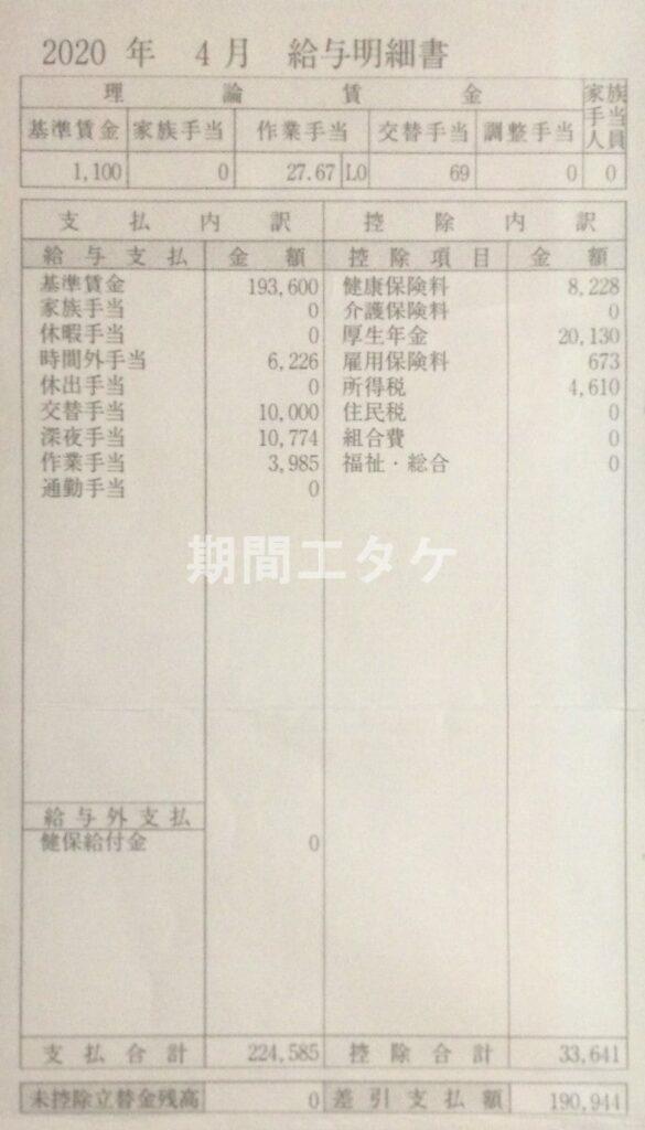 日産九州期間工給料202004