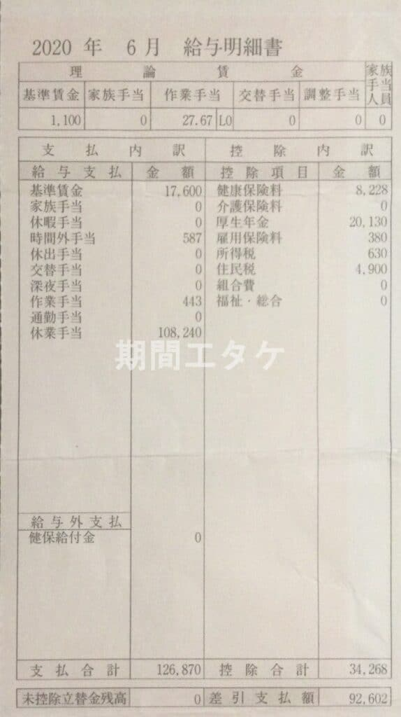 日産九州期間工給料202006